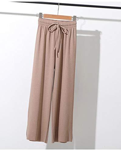 YPDM Badjas zomer, lente, zomer vrouwen Lounge Pants Loose slaapbroek pyjamabroek ijszijde nachtbroek zachte broek met wijde pijpen pyjama S-XXL