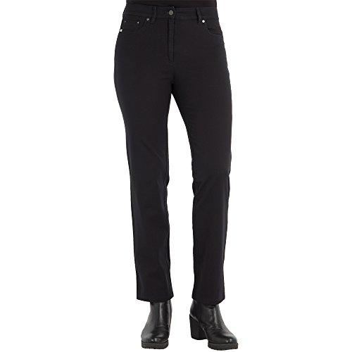 Zerres Damen Jeans CORA Straight Fit Comfort S Bi-Elastisch Stretch, Größe:21, Farbe:99 SCHWARZ