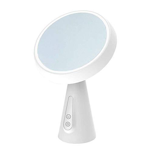Lámpara de escritorio fosa1 Lámpara LED Mirror Portátil Maquillaje Smart USB Cargando Mushroom Head Maquillaje Espejo Creativo Smart Touch Dimagen Lámpara de mesa (Color : White)