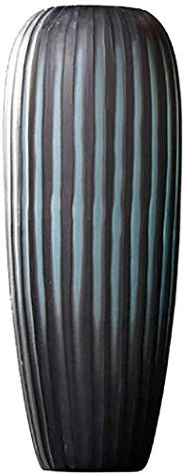 大工除外する苦しみ花器 ガラスの花瓶マニュアル研削装飾花瓶手作りのアートワークリビングルームキッチンテーブルウェディングギフト46 * 28センチメートル 花瓶 (Color : Blue, Size : 66*23cm)