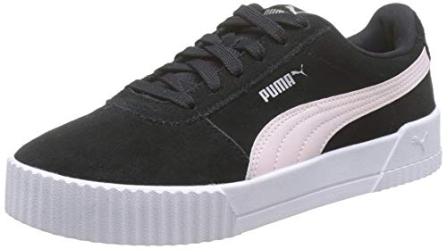 PUMA Carina, Zapatillas para Mujer, Negro Black/Rosewater Silver 11, 39 EU