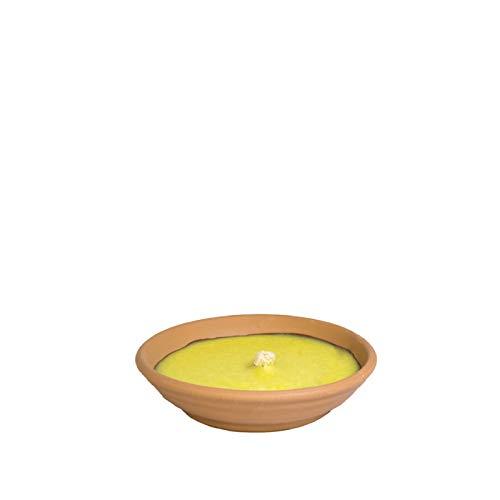 VIRSUS Palucart Candele alla Citronelle in Coccio, Varie Misure e Quantità, Citronella Contro zanzare in Terracotta (10, Diam. 11cm)
