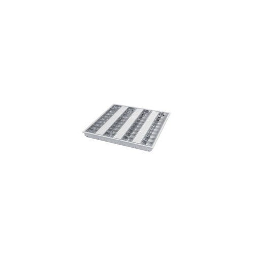 Sylvania SYL0055744 Plafonnier encastré T5 4x14 watts, Aluminium, Blanc