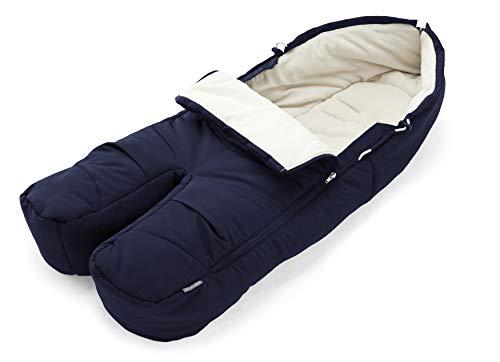 STOKKE® Fußsack - kuscheliger Fleece Fußsack für Wärme und Komfort für dein Baby während Herbst- und Winterspaziergängen - wasserabweisende Stoffe - Farbe: Deep Blue