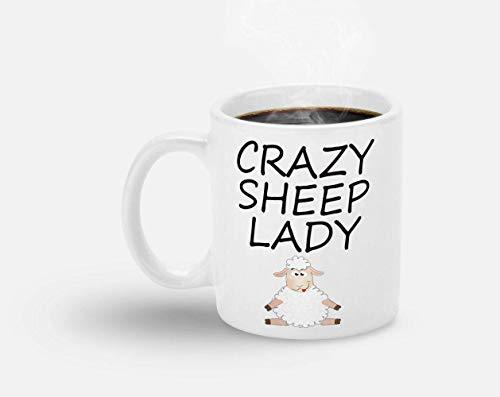N\A Taza de Oveja/Taza para Amante de Las ovejas/señora Oveja Loca/Taza de Granjero de Oveja/Regalo para Amante de Oveja/Regalo de Granjero/Regalo para Granjero/Regalo de Granjero de Oveja
