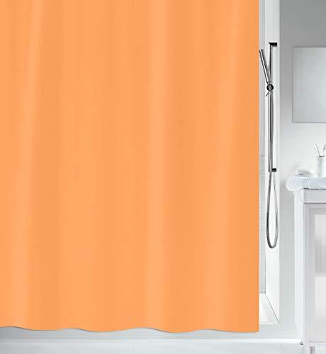 """Spirella Anti-Schimmel Duschvorhang - Anti-Bakteriell, waschbar, wasserdicht - Polyester, """"Primo """" 180x200cm Orange"""