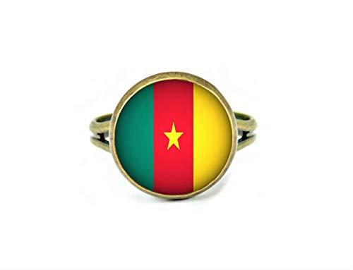 Xubu Nationale Symbool Vlag Sieraden, Kameroen Vlag Ringen, Nationale Vlag Ringen