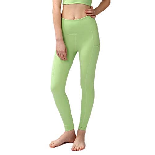 Women's Sports Leggings, Ankle-Length Leggings, Sports Pants, Fitness Pants, Yoga Pants, Sports Leggings, Capri Tights, Women's High Waist C-Green M