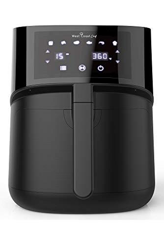 West Coast Chef XL Air Fryer 5.8 Quart w/ Digital Touchscreen - Power XL Air Fryer Oven, Airfryer, Freidora De Aire, Large Air Fryer XL, Power Air Fryer XL, Air Frier