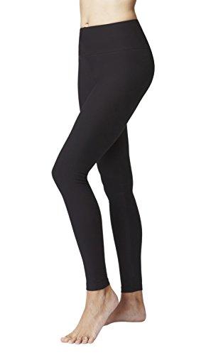 TLC Sport Damen Figur Straffung Abnehmen Kompression Sport Taille Kontrolle Ebene Gym Leggings-Schwarz-Large (42)