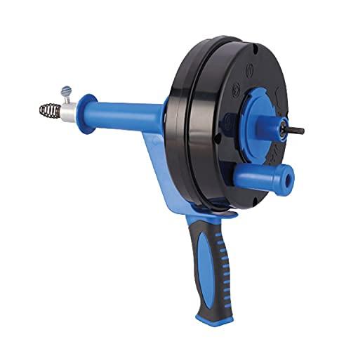 HARTOOL Rohrreinigungsgerät mit Spirale 6.35 mm x 7.6 Meter | Rohrreinigungsspirale ausziehbar | Abflussspirale zum Entfernen von Haaren aus verstopftem Abfluss | Abfluss verstopft | Rohr verstopft