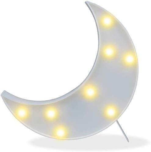 Crescent Moon Decor & Night Light