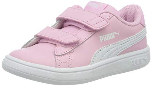 Puma Unisex Baby Smash V2 L V Inf Sneaker, Pale Pink White, 20 EU