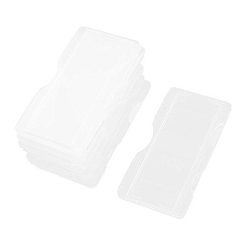 uxcell 10 Pcs Laboratory Lab Microscope Glass Slides Plastic Storage Box