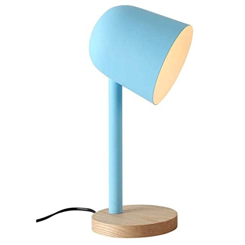 JJZXD Scandinavian Minimalist Style Design, Elegant, Compact and Convenient Blue Iron Lantern Table Lamp
