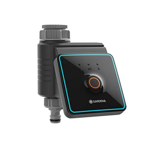 GARDENA Bewässerungssteuerung mit Bluetooth® App: Automatische Bewässerung für Garten und Balkon, via App konfigurierbar, Bewässerungszyklen in 3 Zeitplänen, 10 m Reichweite (01889-20)