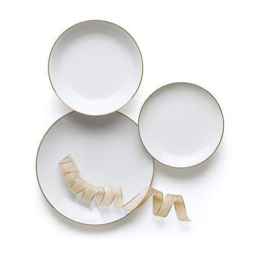 Excelsa Gold - Vajilla de 18 piezas de porcelana
