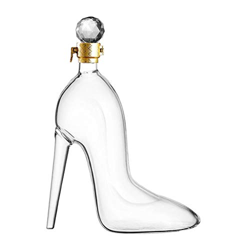 perfk Decantador de Whisky para Mujer, Zapatos de Tacón, Botella de Vino, Dispensador de Licor de 350 Ml para Licor, Borbón, Regalo para Mujer