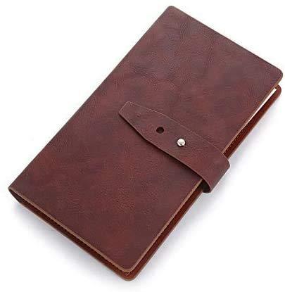 Visitenkartenmappe Visitenkartenbuch bis 300 Karten Braun I Kompakt & Übersichtlich I Visitenkartenetui für Büro