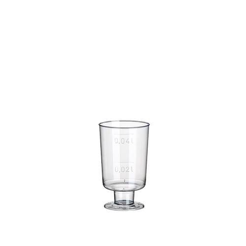 20 Stiel-Gläser für Schnaps, PS 4 cl Ø 3,8 cm · 6,3 cm glasklar einteilig Plastik