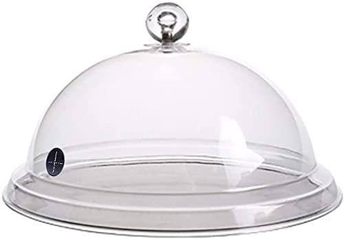1 unids tapas de acrílico transparente cúpula cubierta de alimentos para ahumar infusión de humo, platos de ahumado, bandejas de carne, barbacoa mejorar el sabor (26 cm)