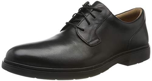 Clarks Un Tailor Tie, Zapatos de Cordones Derby para Hombre, Negro y Negro, 43 EU