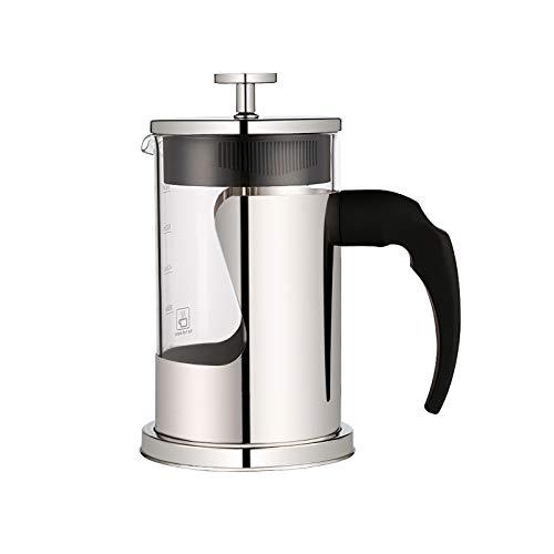 Prensa de café de acero inoxidable, prensa de café, resistente al calor, filtro de cafetera, cafetera con filtro de acero inoxidable para el hogar, hotel, oficina, 800 ml