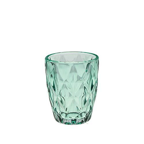 Rose und Tulpen Turquoise Diamond 6 Gläser Set Glas türkis