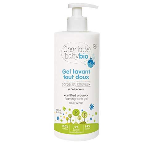 Charlotte Baby Bio - Les Soins BIO pour Bébé - Gel Lavant Tout Doux - Pour Corps et Cheveux - à l'Aloé Vera - Flacon avec pompe 500 ml lot de 6