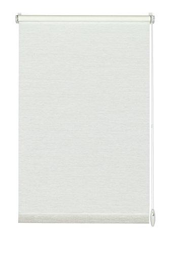 GARDINIA Rollo zum Klemmen oder Kleben, Tageslicht-Rollo, Blickdicht, Alle Montage-Teile inklusive, EASYFIX Rollo Natur, Weiß, 75 x 150 cm (BxH)
