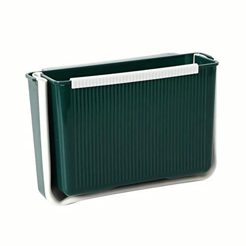 Delaspe Cubo de basura plegable para colgar, para cocina, armario, puerta, coche, oficina