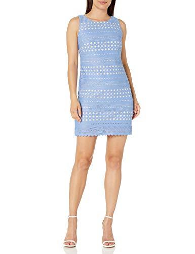 Eliza J Women's Laser Cut Shift Dress Casual, Periwinkle, 16