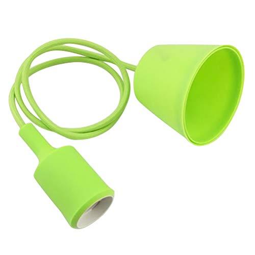 LEDMOMO Support d'ampoule en silicone E27 suspendu avec douille à LED pour cuisines, couloir dans la salle Bars de restaurants (vert clair)