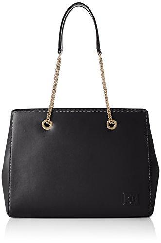 Escada- Ab739, Bolsos totes Mujer Negro (Black) 12.5x26x35.5 cm (B x H...
