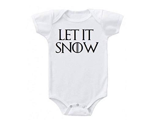 Promini Let it Snow Juego de Tronos Papá Noel Navidad Familia Lindo Divertido Elegante Bebé Onesie Regalo Novedad Bebés Body Blanco blanco 12 meses