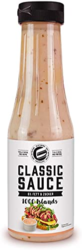 Got7 Nutrition CLASSIC SAUCE - Salsa per insalate, grigliate e condimenti senza calorie - perfetta per la perdita di peso - 350 ml (Thousand Islands-Mille isole)