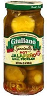 Giuliano Hot Jalapeno Dill Pickles 16 Oz (Pack of 2)
