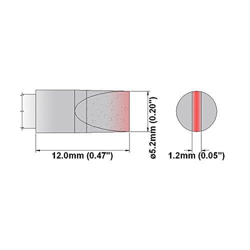 Thermaltronics Lötspitze Serie M 5,0 mm Meißel 475 °C extra lang
