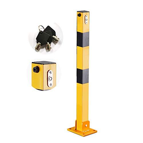 XGGYOOG Cuadrado Barrera de Estacionamiento de Acero, Barreras Para Parking de Plegable,...