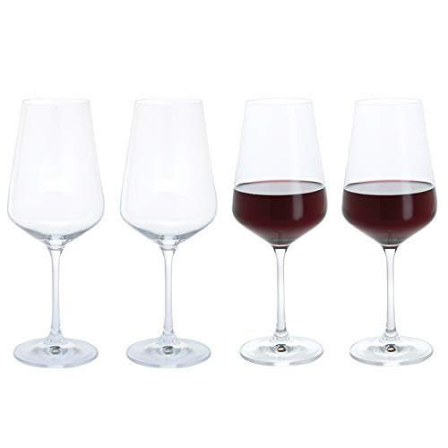 Dartington Crystal ST3286/3/4PK - Cheers Crystal Red Wine Glasses, Set of 4, 8 x 8 x 24 cm