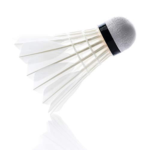 larum sports Federbälle/Badminton Bälle/Naturfederbälle/Shuttlecocks hoher Stabilität und Haltbarkeit, perfekt für Indoor Training und Spielpraxis, Hobby und Verein, 1 Rolle = 12 Stück