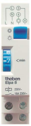 Theben 0080002 ELPA 8 Treppenlichtzeitschalter - Treppenhausautomat, elektromechanisch, Treppenlicht-Zeitschalter, weiß