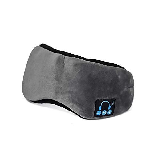 持つ価値があります - Leopardプリント、スリープアイシェードのブルートゥースアイマスク、内蔵スピーカーマイクブラックアウト完璧な、寝ているヘッドフォンのノイズキャンセリング (Color : Grey)