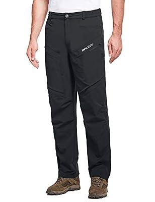 BALEAF Men's Lightweight Hiking Cargo Pants UPF 50+ Quick Dry Waterproof Outdoor Pants Black M