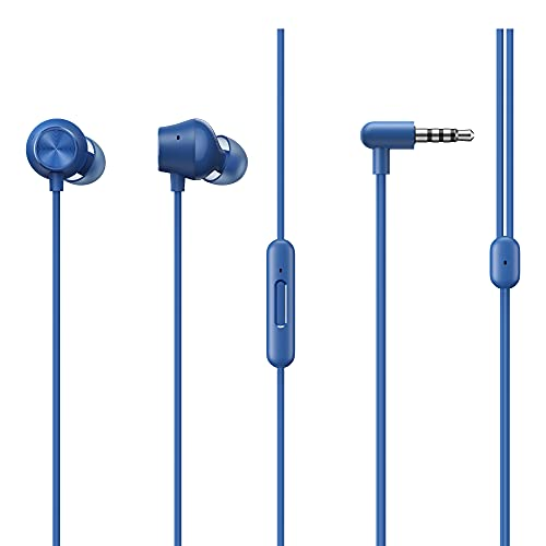 realme Buds 2 Neo in-Ear Wired Earphones with HD Mic for Android Smartphones (Blue)
