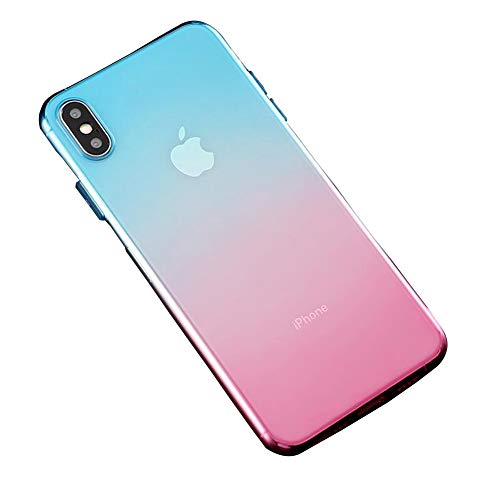 WODETIAN Conchiglia luccicante per iPhone 7 8 Plus Cover Morbida per iPhone 6 6s Cambiamento graduale Custodia per Telefono Glitter per iPhone 8 Plus,C,6plus/6splus