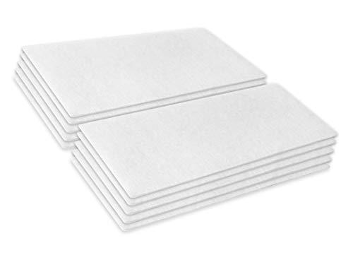 Kenekos 10 Mikrofilter/Luftfilter/Motorfilter/Abluftfilter/Microfilter/Filtermatte zuschneidbar ca. 190x90mm / geeignet für Diverse Miele Bodenstaubsauger