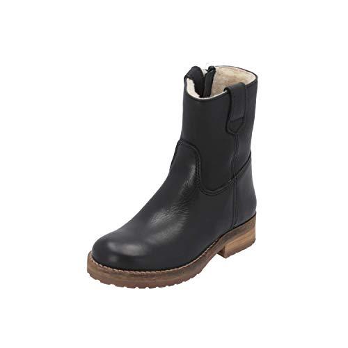HIP H2747 Kinder Mädchen Stiefel Schwarz Schnür-Stiefelette Winter, Größe:EUR 32