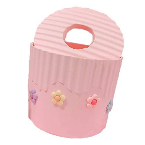 UCYG escritorio rectangular cubierta de caja del tejido, Rosa de la muchacha del corazón Pequeña caja de pañuelos de flores, la sala de estar del dormitorio del hogar Home Mesa Bandeja Bandeja rollo d