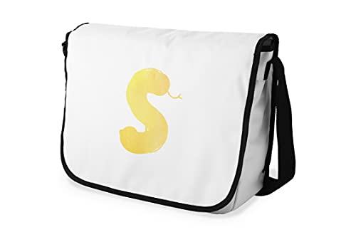 Bonamaison – Bolsas de Mensajero con Pulsera Negra para Estudiantes, Mochilas Escolares para niñas y niños, 29 x 36 cm